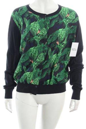 COS Cardigan dunkelblau-grün abstraktes Muster