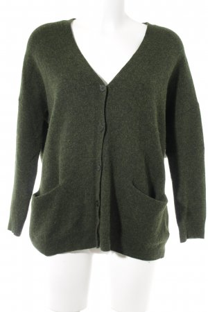 COS Cardigan dark green casual look