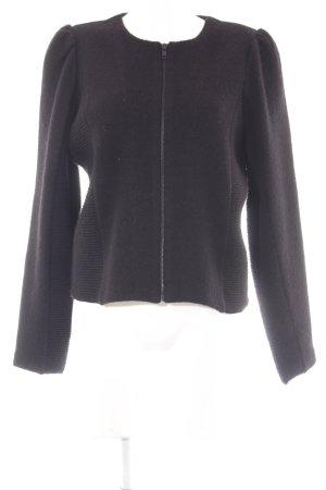 COS Cardigan schwarz Streifenmuster Casual-Look