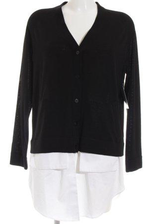 COS Cardigan schwarz-weiß Street-Fashion-Look