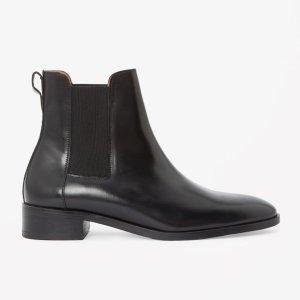 COS Chelsea Boots, Schwarz, Leder, Gr. 40