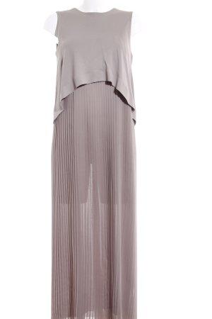 COS Chiffonkleid taupe-graubraun minimalistischer Stil