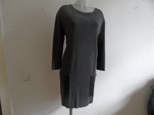 COS Clean Chic, lässiges Kleid Baumwolle/ Leder Gr. M / 40