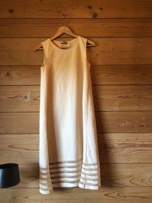 COS Cocktail Kleid mit mesh Einsatz in Creme