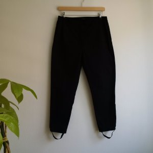 COS Cotton Stirrup Trousers 44 || Schwarze Steghose || Karottenhose