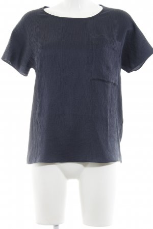 COS Kreukelblouse donkerblauw casual uitstraling