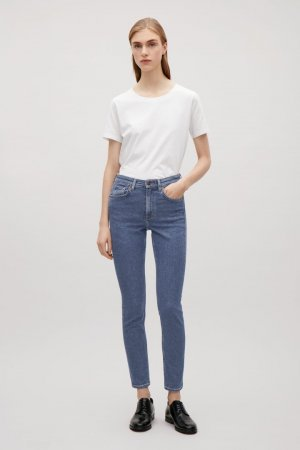 COS Cropped Skinny Jeans Vintage Mid Blue Clean Chic Blogger Trend W26