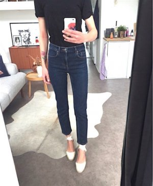 COS Cropped Slim Fit Jeans W25 Blogger Dunkelblau