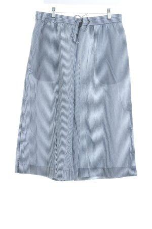 COS Culottes weiß-graublau Streifenmuster Casual-Look