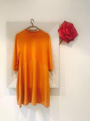 COS A Line Dress dark orange