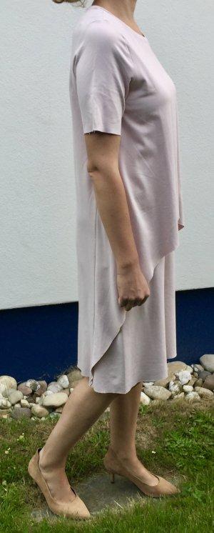 COS doppellagiges Jerseykleid, Größe M in Pastell-Pink