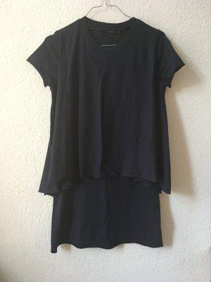 COS dunkeblaues T-Shirtkleid