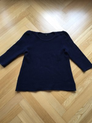 COS | Dunkelblauer Strickpullover (A-Form)