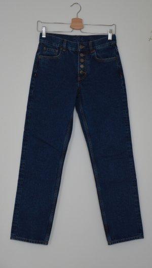 COS Slim jeans donkerblauw Katoen