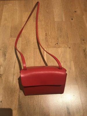 Cos Echtleder-Tasche Rot