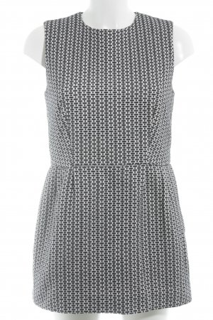 COS Sheath Dress natural white-dark blue graphic pattern structure style