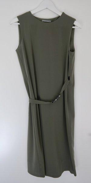 COS Extravagantes Kleid, olivgrün, Gr. 34
