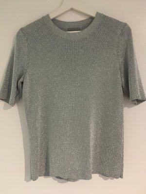 COS Camicia maglia argento-grigio chiaro