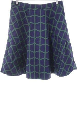 COS Glockenrock blau-grün grafisches Muster Casual-Look
