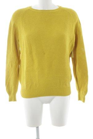 COS Grof gebreide trui limoen geel losjes gebreid patroon simpele stijl