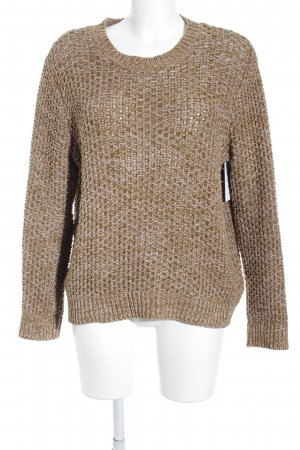COS Coarse Knitted Sweater ocher-dusky pink flecked casual look