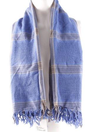 COS Foulard gris-bleu motif à carreaux style décontracté
