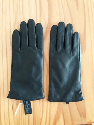 COS Leather Gloves black leather