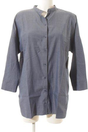 COS Camicia blusa blu stile classico