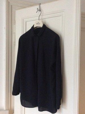 COS Hemd-Bluse dunkelblau schlichter Stil