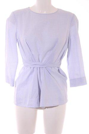 COS Blouse-chemisier blanc-bleu motif de tache élégant