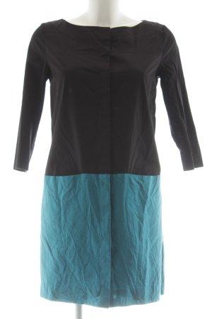 COS Hemdblusenkleid schwarz-blau Casual-Look