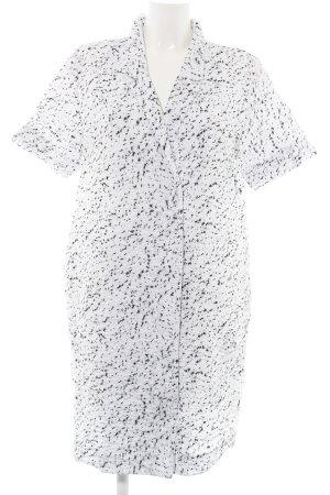 COS Hemdblusenkleid weiß-schwarz Allover-Druck schlichter Stil