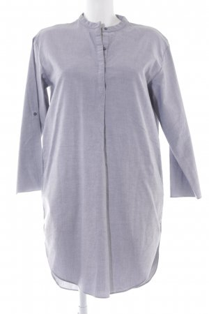 COS Robe chemise bleu foncé-blanc Motif de tissage style décontracté