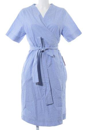 COS Hemdblusenkleid kornblumenblau-weiß Streifenmuster Casual-Look
