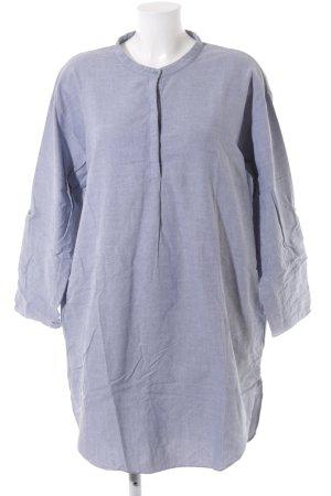 COS Hemdblusenkleid weiß-blau Casual-Look