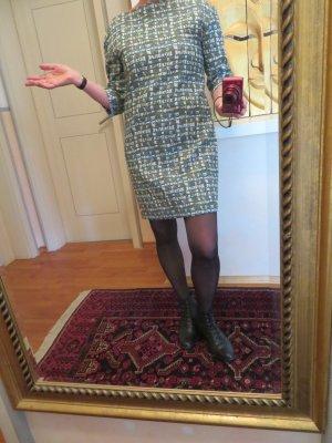 COS Herbst Kleid Graphic Design Gr. M 38 neuwertig Grau Türkis