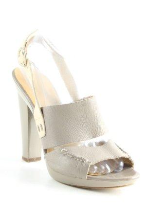 COS High Heel Sandaletten graubraun-creme Elegant