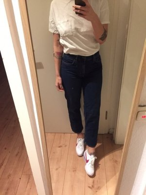 Cos High Waist Jeans Relaxed Fit Denim Dunkelblau weites Bein