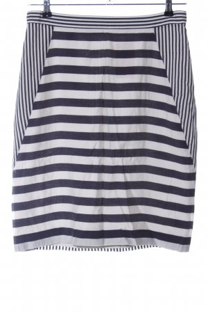 COS High Waist Skirt white-black striped pattern casual look