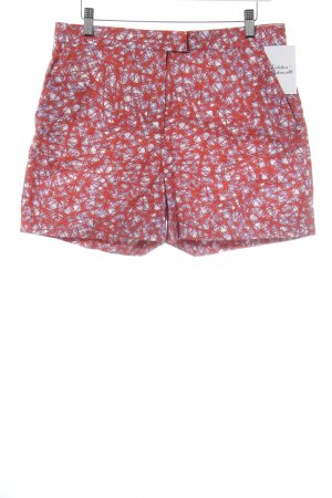 COS High-Waist-Shorts rot-stahlblau abstraktes Muster Beach-Look