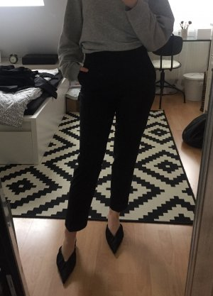 COS High Waist Trousers black wool