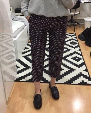 COS Pantalon taille haute multicolore viscose