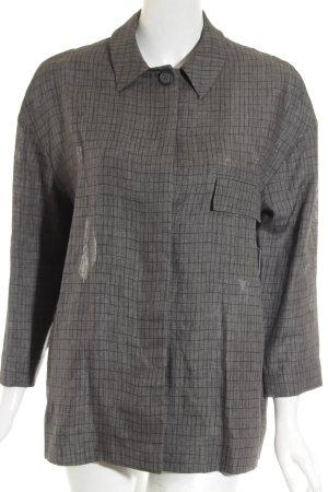 COS Jacket black-grey check pattern casual look