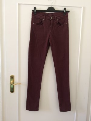 COS Skinny Jeans bordeaux cotton