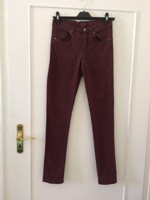 COS Skinny Jeans bordeaux cotton