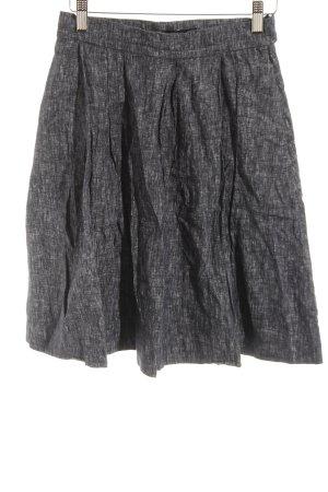 COS Denim Skirt blue-slate-gray flecked business style