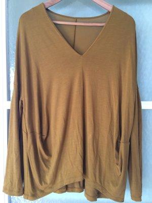 COS Jersey Longshirt ockergelb goldoliv