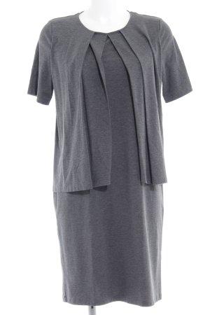 COS Jerseykleid dunkelgrau meliert Casual-Look