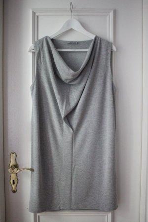 COS Jerseykleid mit Wasserfallkragen