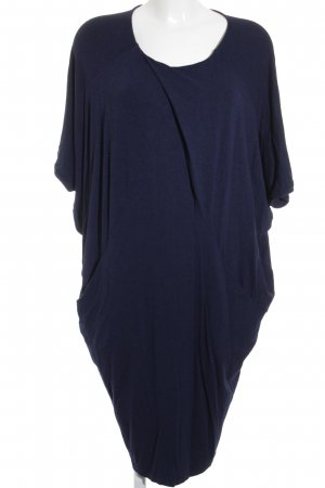 COS Jersey Dress black-dark blue flecked urban style